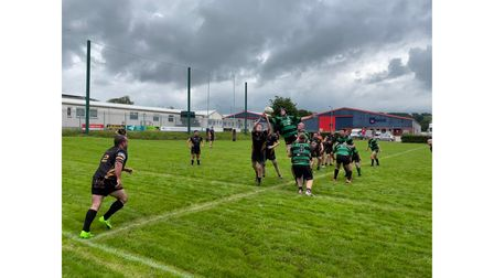 Rugby match lineout