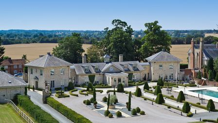 Huge Georgian-fronted country residence overlooking Italianate style gardens in the Suffolk countryside