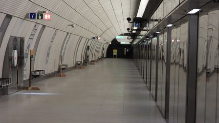 London's new 'super tube' at Whitechapel with its longer platforms and sliding door safety barriers
