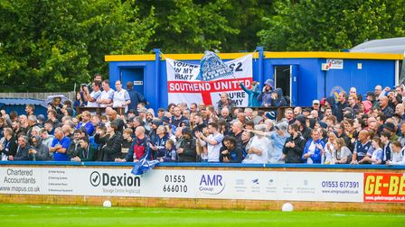 Southend fans in good spirits before the game
