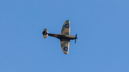 Guests were treated to a flyover by a BBMF Spitfire.