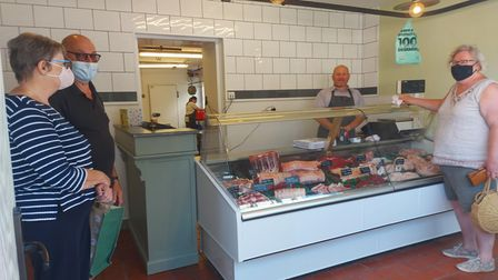 Stuart and Lisa Ray have opened Brook Street Butchers in Great Bardfield, Essex. Picture inside with customers