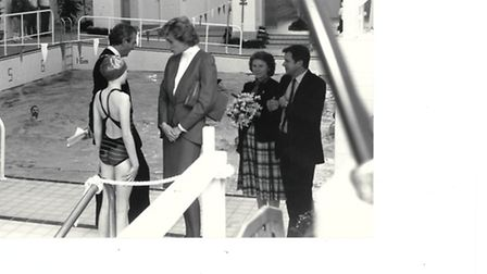 Sheringham's Splash being opened by Princess Diana in 1988. Photo: EDP Library