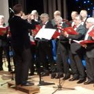 An archive image of members of Braintree Male Voice Choir at a performance, Essex