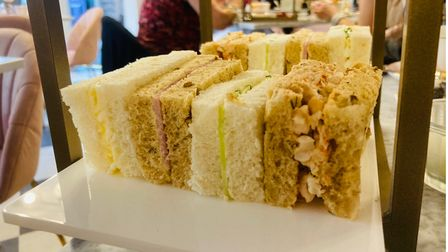 A selection of sandwiches at Tea at The George, Colchester