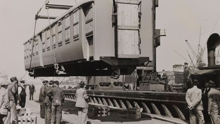 Anything and everything came through the Port of London... like a consignment of train carriages for Kenya and Uganda railway