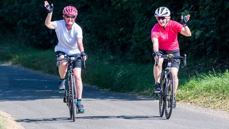 Cyclists taking part in Ride North Norfolk back in 2019.