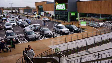 The new Asda on Hall Road. Proposed work would see changes made to nearby Hall Road. Picture: DENISE