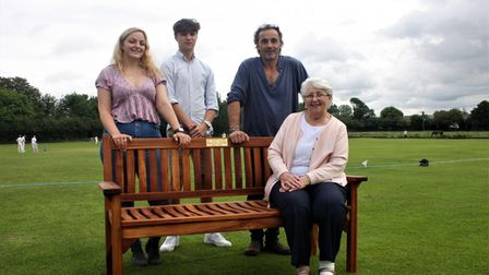 A bench was donated to Sutton Cricket Club in memory of David Gibbs.