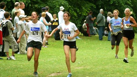 The First runners home at the Race for Life in Nowton Park in 2003