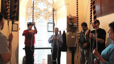 Bell ringing celebrations in Leiston in 2011 in memory of the Bailey brothers