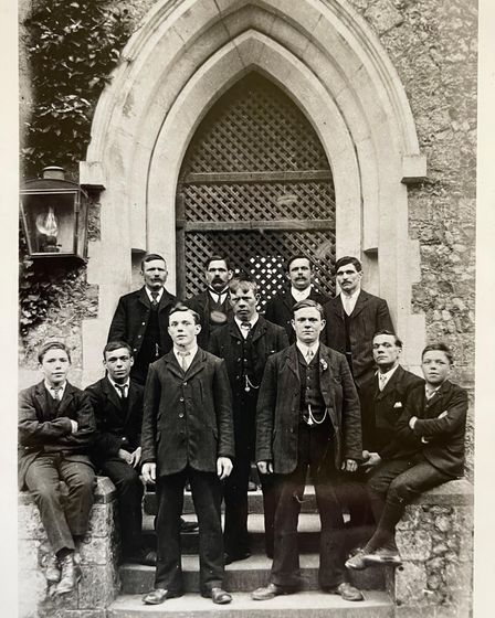 The 11 Bailey brothers of Leiston, six of whom rang a famous handbell peal