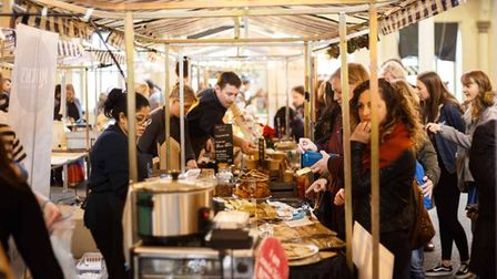 Green sisters stand at 'free from' food fest held last time in Spitalfields
