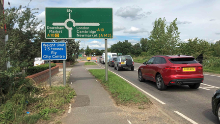Lack of movement on safety improvements to the A10 BP roundabout in Ely.
