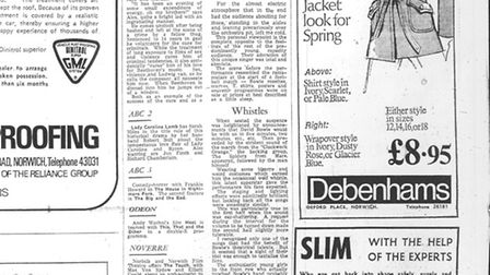 David Bowie review in the Eastern Evening News on 22 May 1973