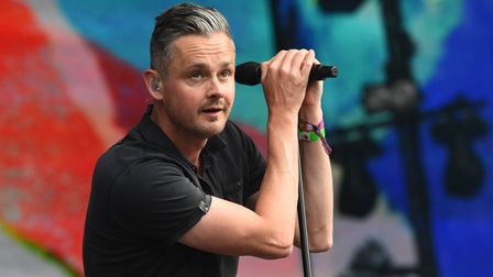 Tom Chaplin of Keane performs during the British Summer Time festival at Hyde Park in London.