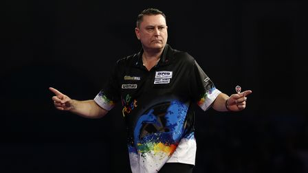 Kevin Painter reacts during his 2nd round match during day ten of the William Hill PDC World Champio
