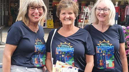 Three of the organisers of WAMfest in Felixstowe, from left, Laura Locke, Alison Miller and Sally Jacobs