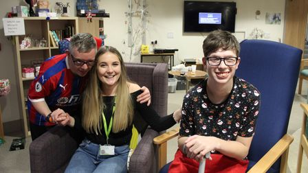 Three young people enjoying the Short Break service from Zest at St Elizabeth Hospice
