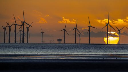Embargoed to 0001 Tuesday July 13 File photo dated 17/09/2019 of Burbo Bank wind farm off Merseyside