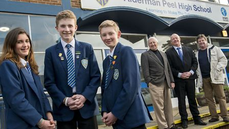 Three students from Alderman Peel High School are going on a sailing exchange to Oxford in America -