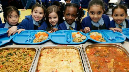 Youngsters enjoy their lunch break at Tower Hamlets schools