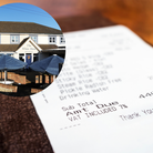 The White Horse at Brancaster/receipt