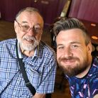 Matt Symons with his dad, who has been diagnosed with vascular dementia