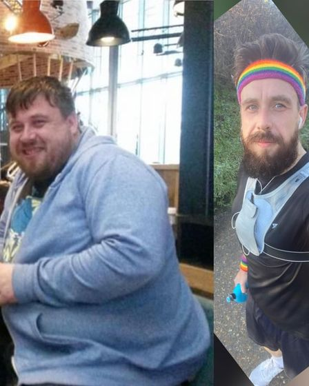 Matt Symons has shed more than 10 stone and is running the Manchester Marathon next month