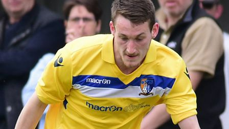 Adam Hipperson scored twice for Norwich United at Ipswich Wanderers. Picture by SIMON FINLAY.