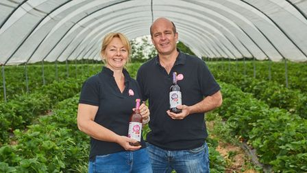 Craig and Gail Williamson at Barn Farm Drinks, which haswon a national Countryside Alliance rural business award