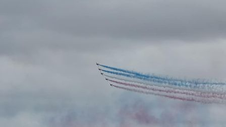 Arrows flying over St Ives