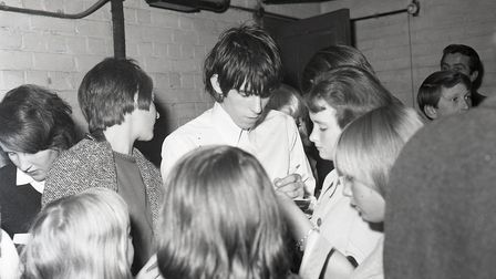 Fans meeting the Rolling Stones at the Ipswich Gaumont in on October 9, 1964