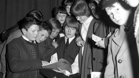 Fans with the Rolling Stones at the Ipswich Gaumont in April 1964