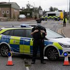 Essex Police at the scene of a stabbing atEnterprise Court industrial estate,Braintree