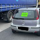 Stowmarket police seized the Vauxhall Corsa after stopping the driver