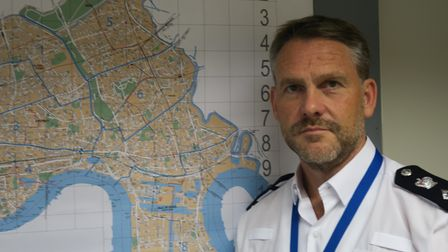 """Tower Hamlets Cmdr Marcus Barnett... """"no place for any form of hate crime"""""""