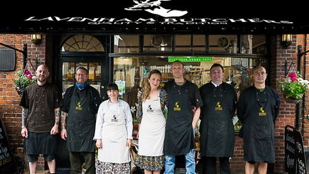 The team at Lavenham Butchers have won anational Countryside Alliance rural business award
