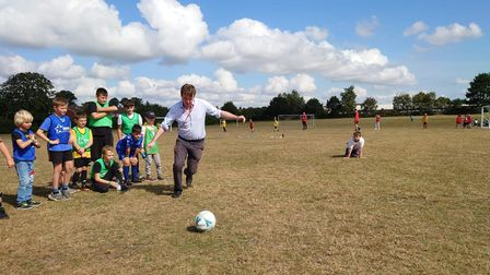 This week Tom Hunt took part in a penalty shoot-out at the Inspire Centre in Ipswich