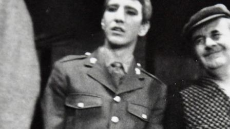 A picture of Alan Rickman, thought to have been taken in 1969, while performing in an amateur produ
