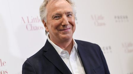 """Actor Alan Rickman attends the premiere of """"A Little Chaos"""" at the Museum of Modern Art on Wednesday"""