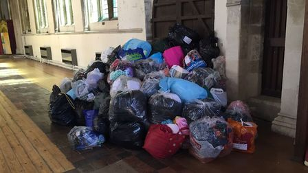 Donations made when the group last helped refugees from Syria back in 2015.