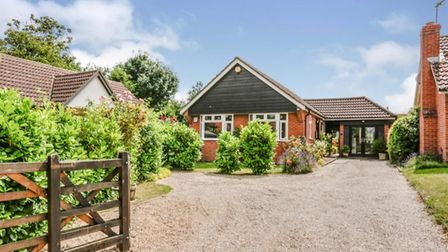 The three bedroom bungalow in Laxfield is on the market for £325,000