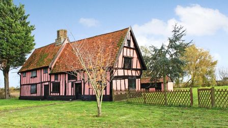 The three bedroom Suffolk longhouse is on the market for £425,000