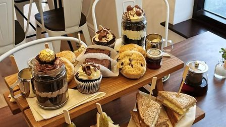 Afternoon tea for two at Tea Re'Treat, a new café in Attleborough