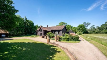 The five bedroom barn conversion in Tuddenham is on the market for £900,000