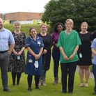 The virtual ward team at the Norfolk and Norwich University Hospital.