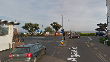 A man was reportedly threatened with a firearm at the junction with Marine Parade West