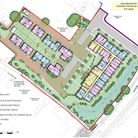 Designs showing how the retirement homes and bungalows would be built