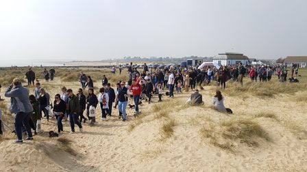 Hundreds of dogs and their owners regularly flock to the Suffolk coast for the event